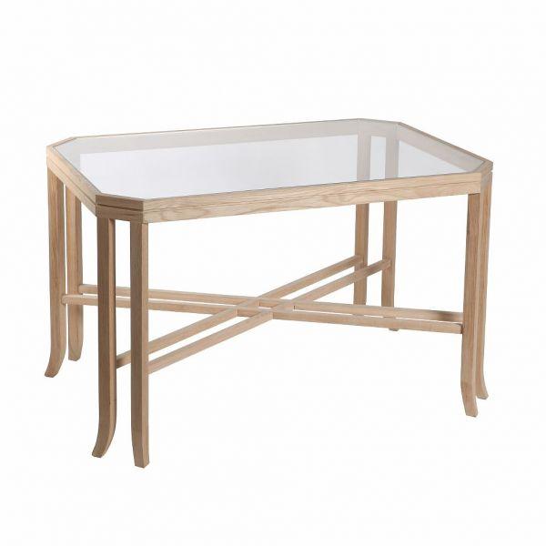 Кофейный столик HOTEL, дуб, стекло арт.22914