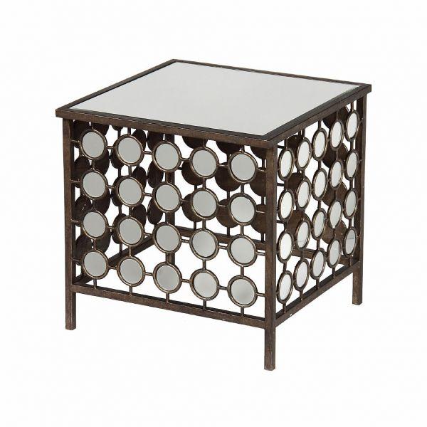 Кофейный столик зеркальный АРТ ДЕКО SIDE TABLE ART DECO 45X45X45CM METAL+MIRRORарт., 24637